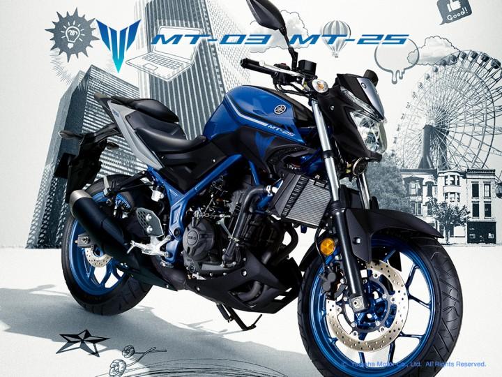 ヤマハ、2気筒ネイキッド「MT-25」「MT-03」の2017年モデルのカラーリングを発表。