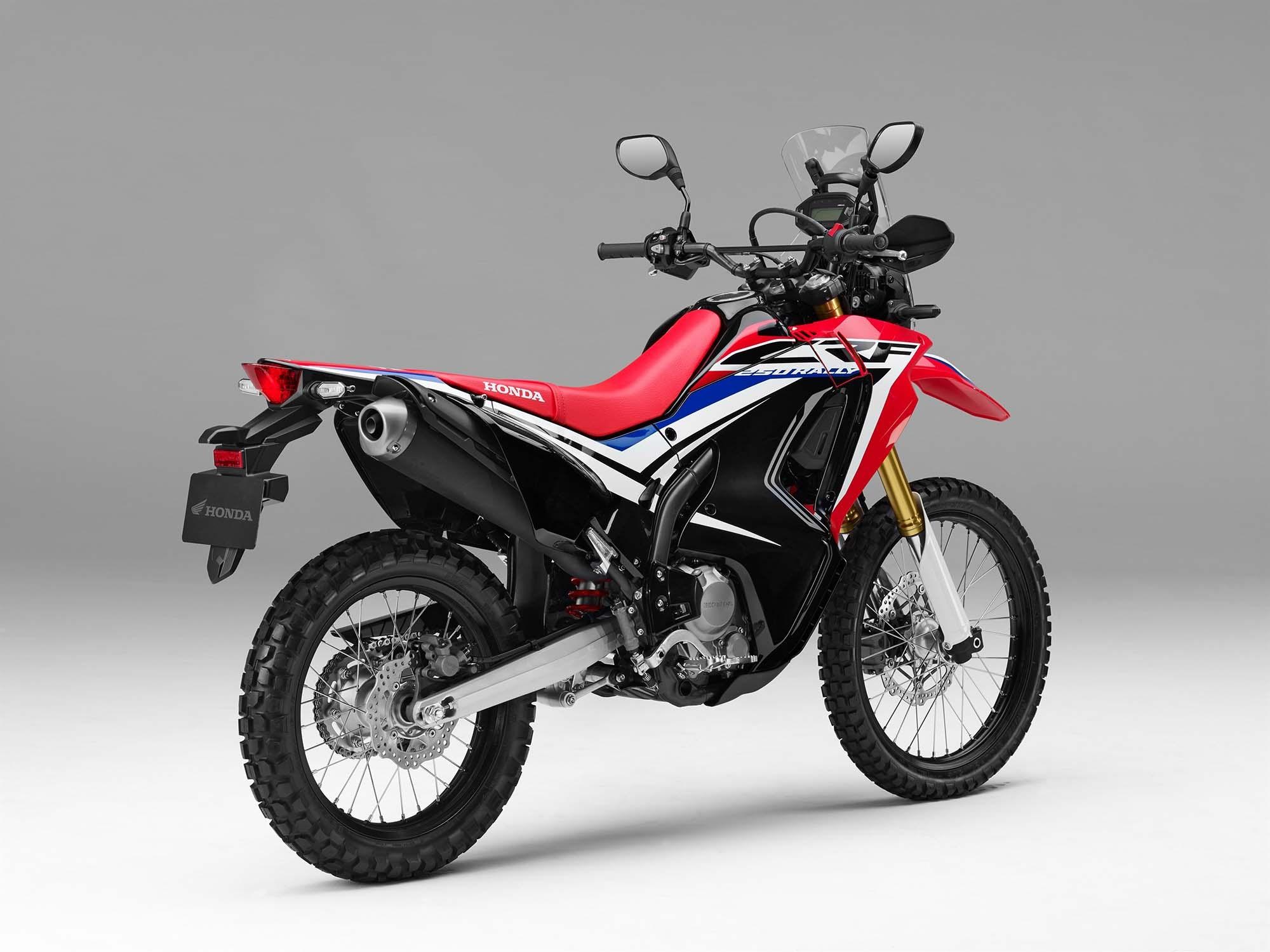 ホンダ、コンセプトモデルだった250ccの軽量アドベンチャーバイク「CRF250L Rally」をEICMAで発表。